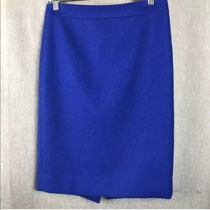 J Crew Double Surge Wool Pencil Skirt, Size 2